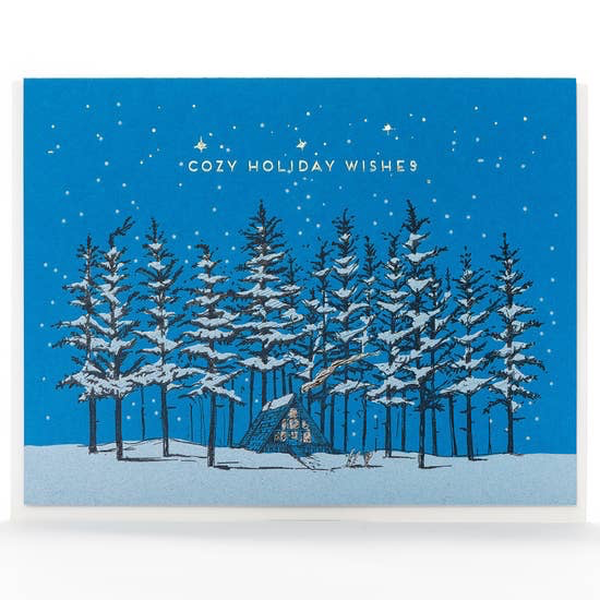 Holiday Cozy A-Frame Card: Box Set of 6