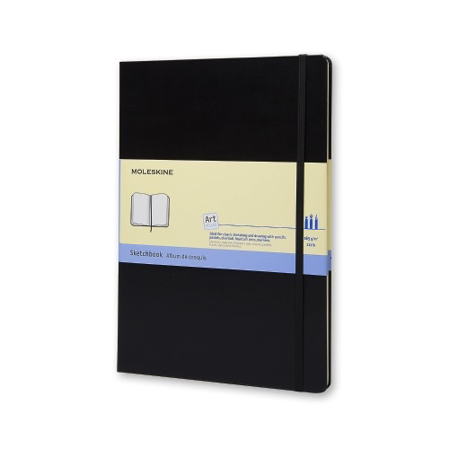 Hard Cover Pocket Sketch Book (Black)