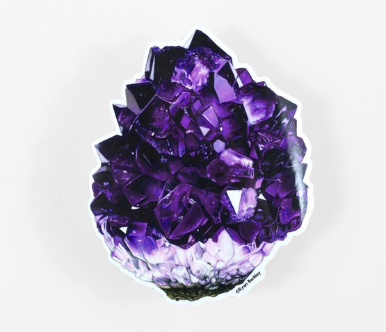 Amethyst Crystal Sticker