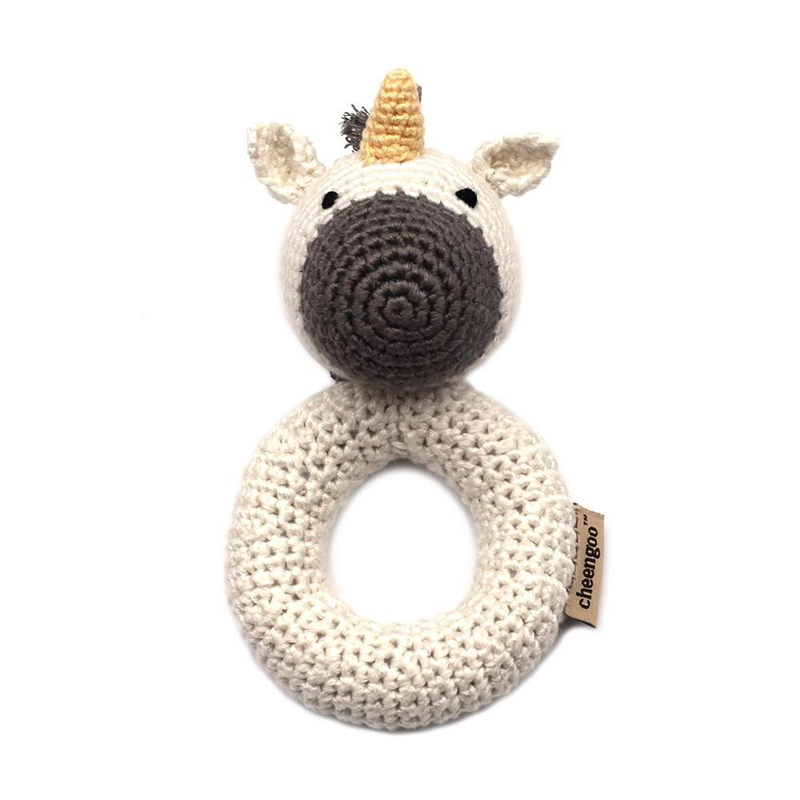 Unicorn Ring Crocheted Rattle