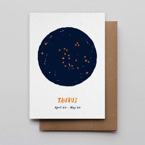 Taurus Constellation Birthday Card