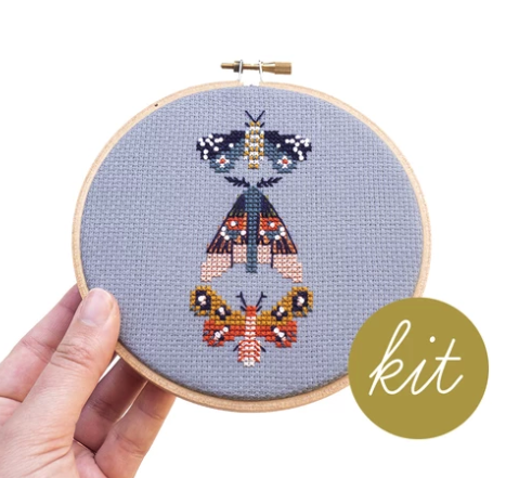 Moths Cross Stitch Kit