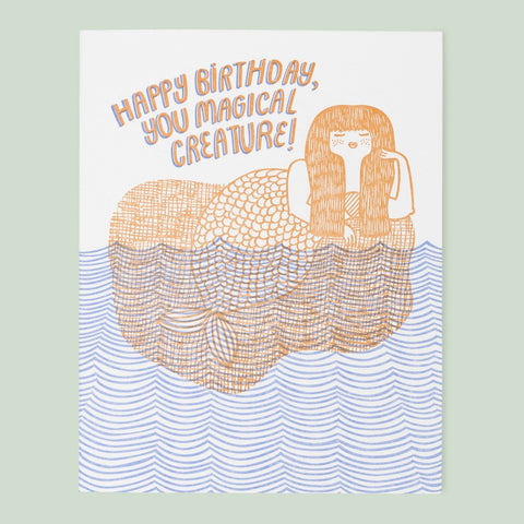 Magical Creature Mermaid Birthday Card