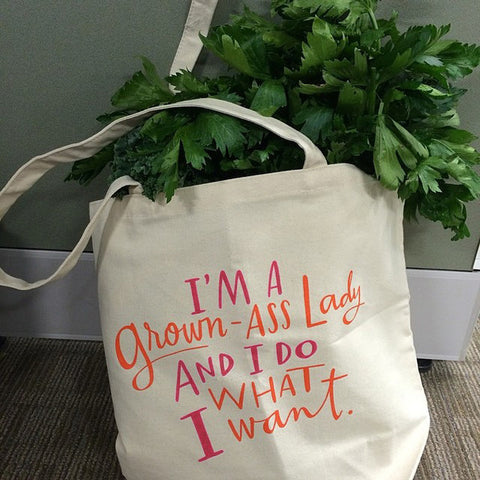 Grown Ass Lady Tote Bag
