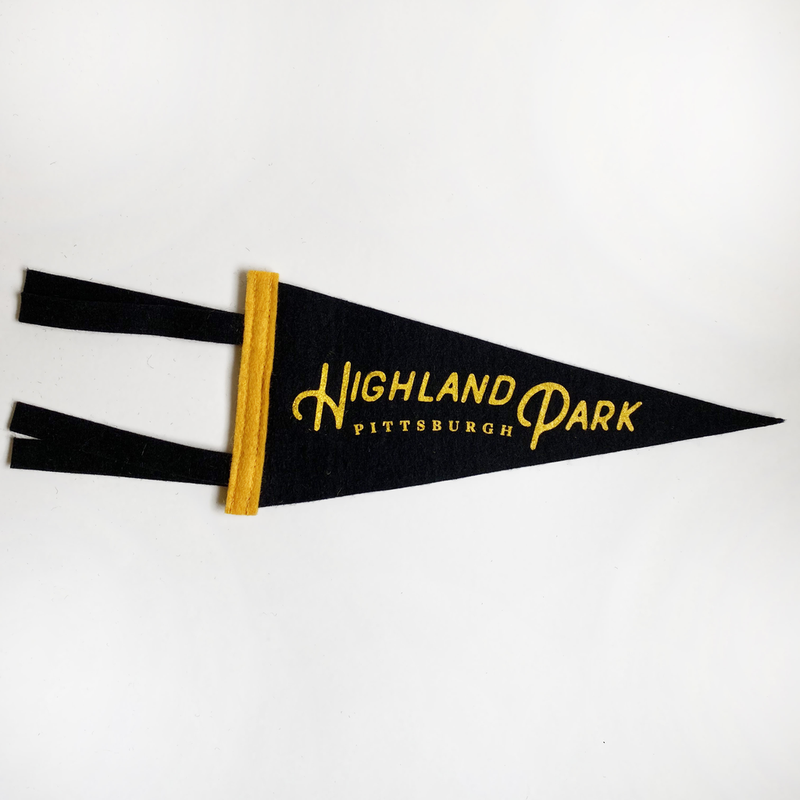 "Oxford Pennant - Highland Park Neighborhood Pennant 4"" x 9"""