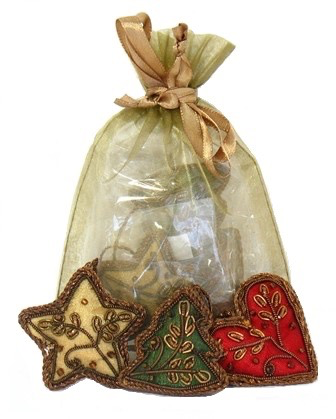 Embroidered Mini Ornament Set
