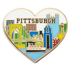Pittsburgh Heart Enamel Pin