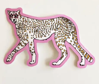 Superstar Cheetah Sticker