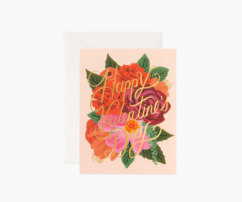 Perennial Flowers Valentine's Day Card