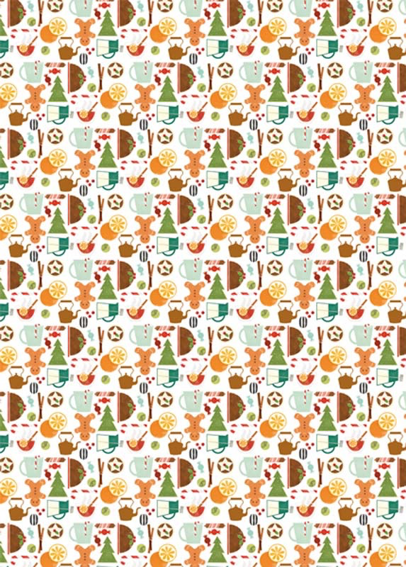 Christmas Treats Wrap Paper Sheet (pick up only)