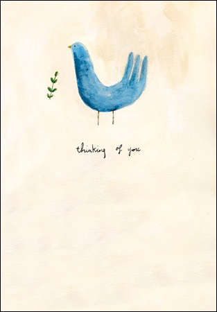 Thinking of You Blue Bird Card