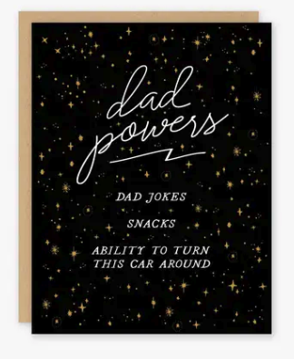 Dad Powers Father's Day Card