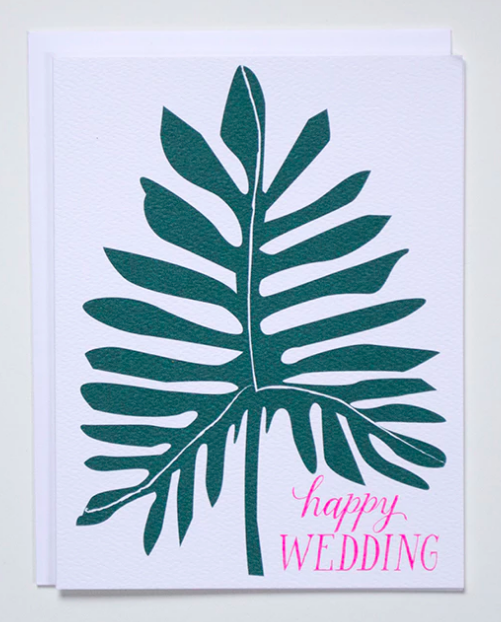Happy Wedding Philodendron Card