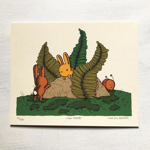 "Fern Friends Print (8"" x 10"")"