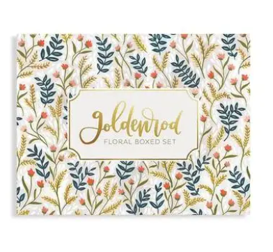 Goldenrod Floral Boxed Cards