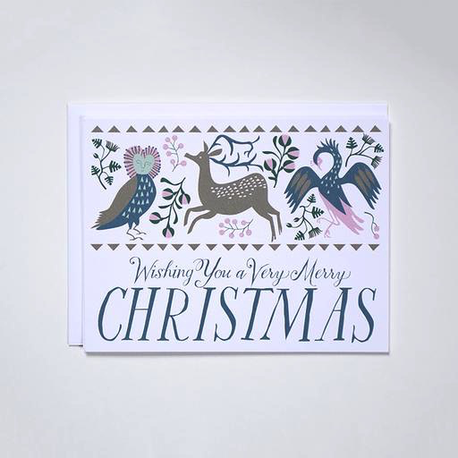 Merry Christmas Folk Friends Boxed Cards