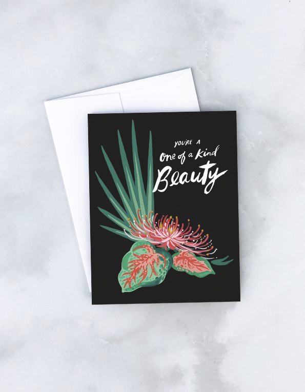 Crysanthemum One of a Kind Beauty Card