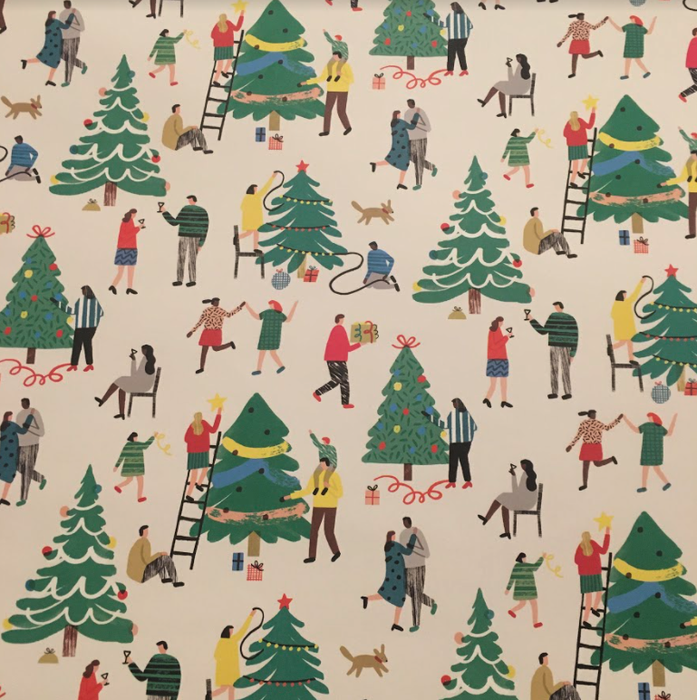 Tree Decorating Wrap Paper Sheet (pick up only)