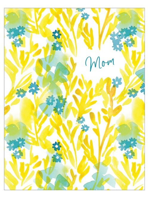 Yellow Floral Mother's Day Card