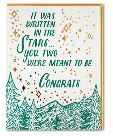 Written in the Stars Wedding Card