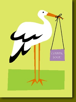 Coming Soon Stork Card