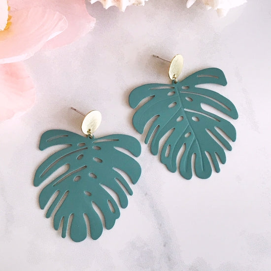Mostera Earrings - Sage