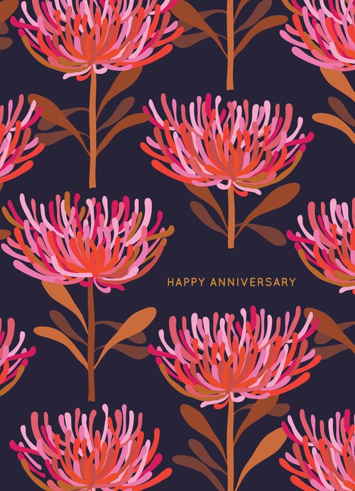 Tree Waratah Anniversary Card
