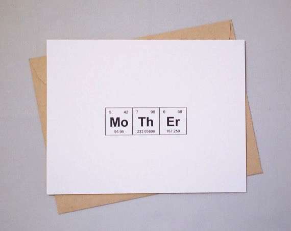Periodic Table Mother's Day Card
