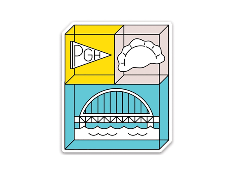 Pennant & Pierogi & Bridge Vinyl Sticker
