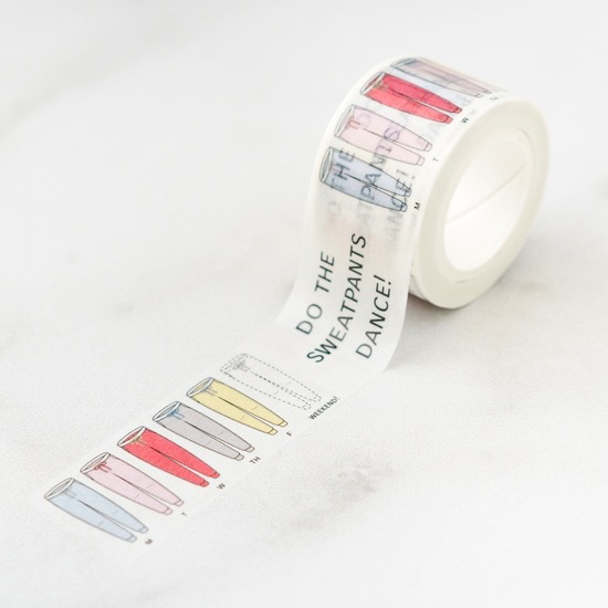 Happy Sweat Pants Dance! Washi Tape