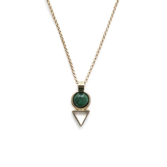 Malachite Tiny Elder Necklace