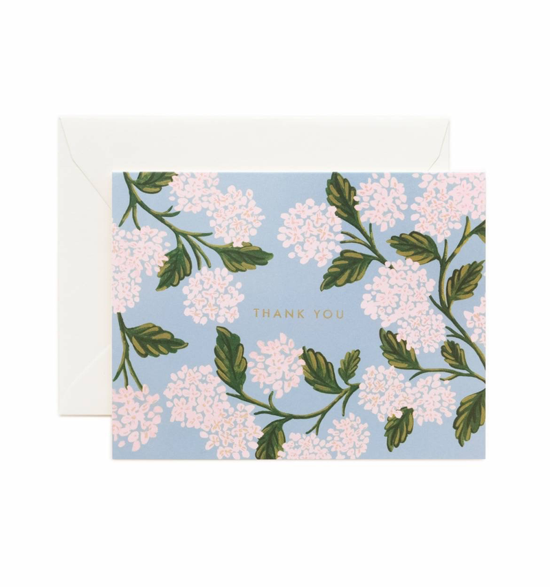 Hydrangea Thank You Boxed Cards