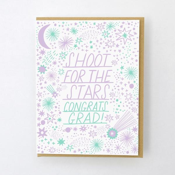 Shoot For the Stars Graduation Card