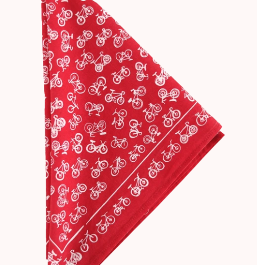 Bikes (Red) Premium Cotton Bandana