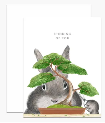 Bonsai Bunny Card