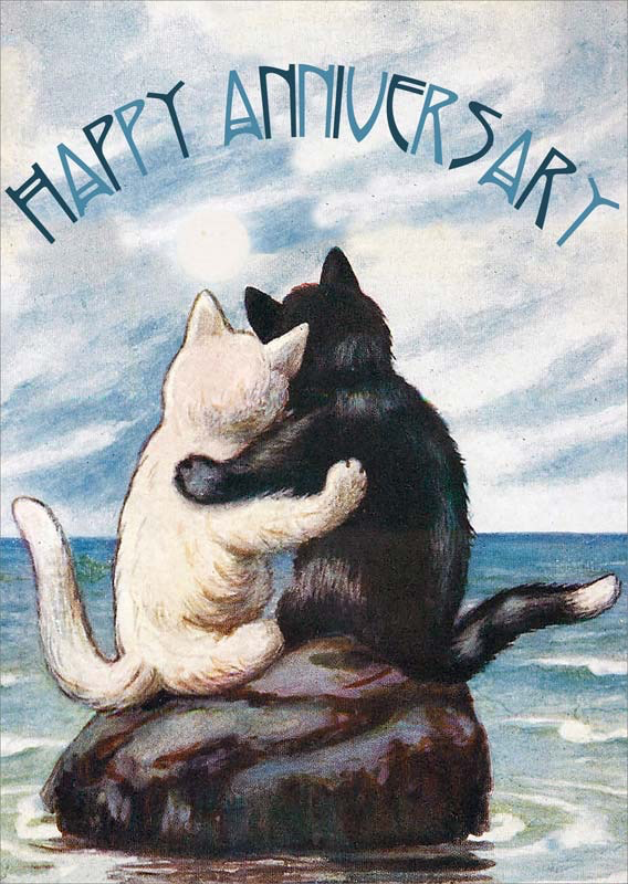 Cats Anniversary Card