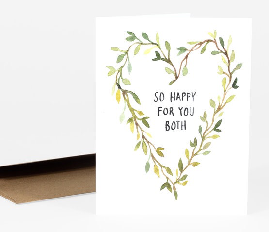 So Happy For You Wedding Card