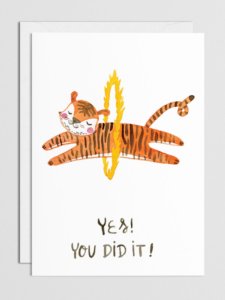 You Did it!  Tiger Card