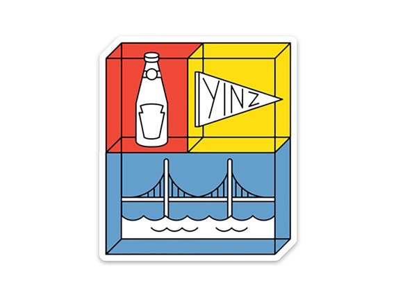 Ketchup & Pennant & Bridge Vinyl Sticker