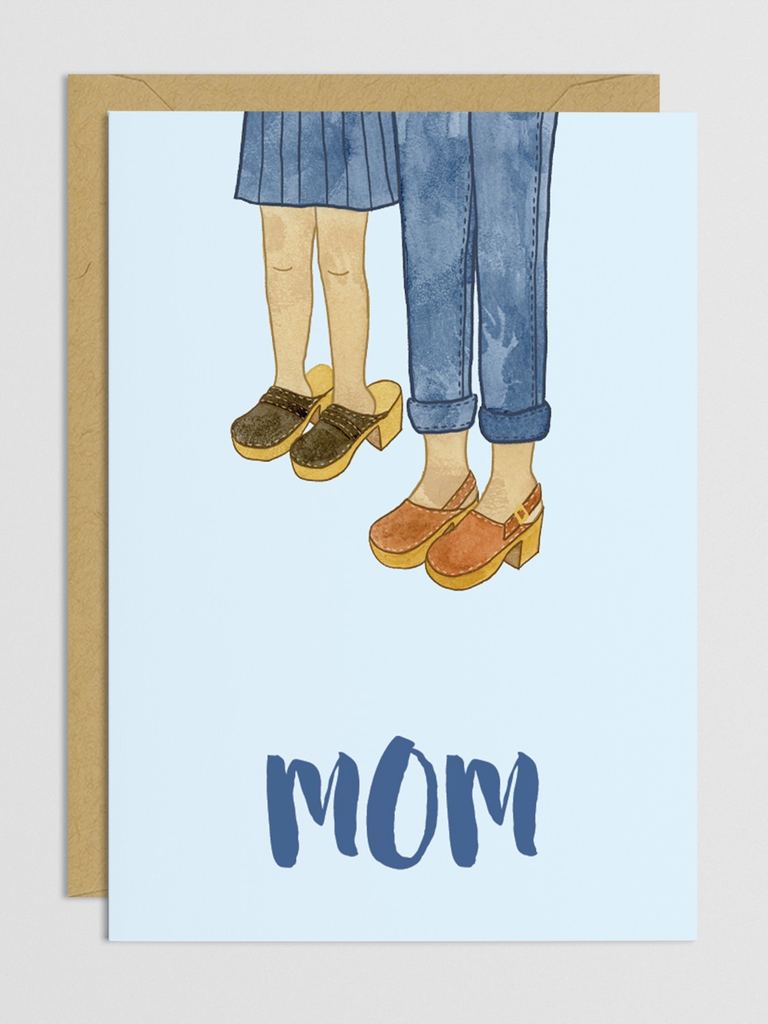 Mother's Clogs Card