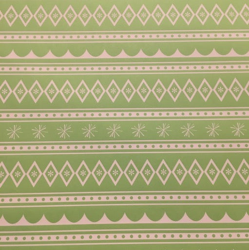 Gingerbread House (limeade green) Wrap Paper Sheet (pick up only)
