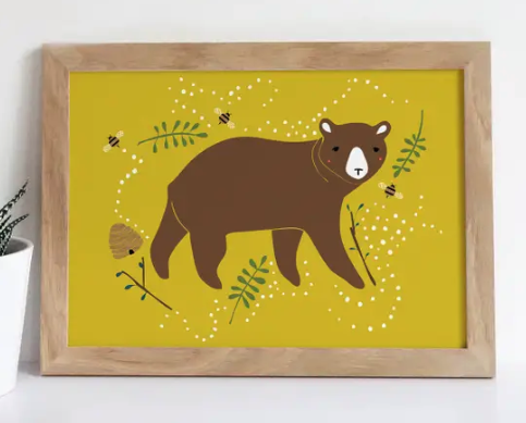 "Enchanted Bear Print (8.5"" x 11"")"