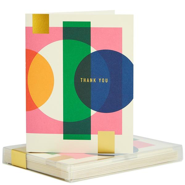 Bright Geo Thank You Boxed Cards