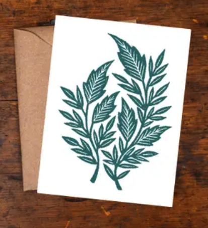 Ferns Block Printed Boxed Cards