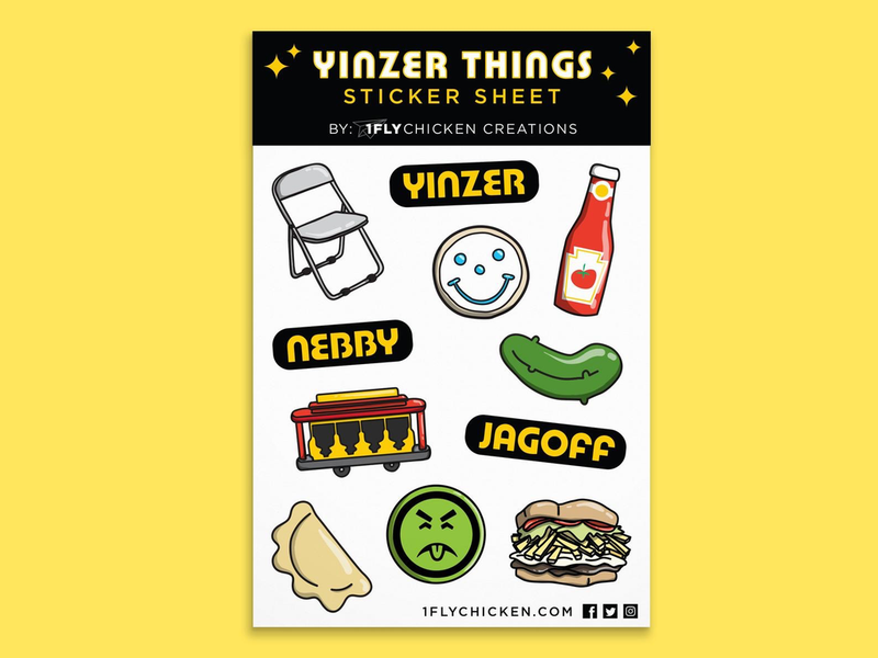 Yinzer Things Sticker Sheet