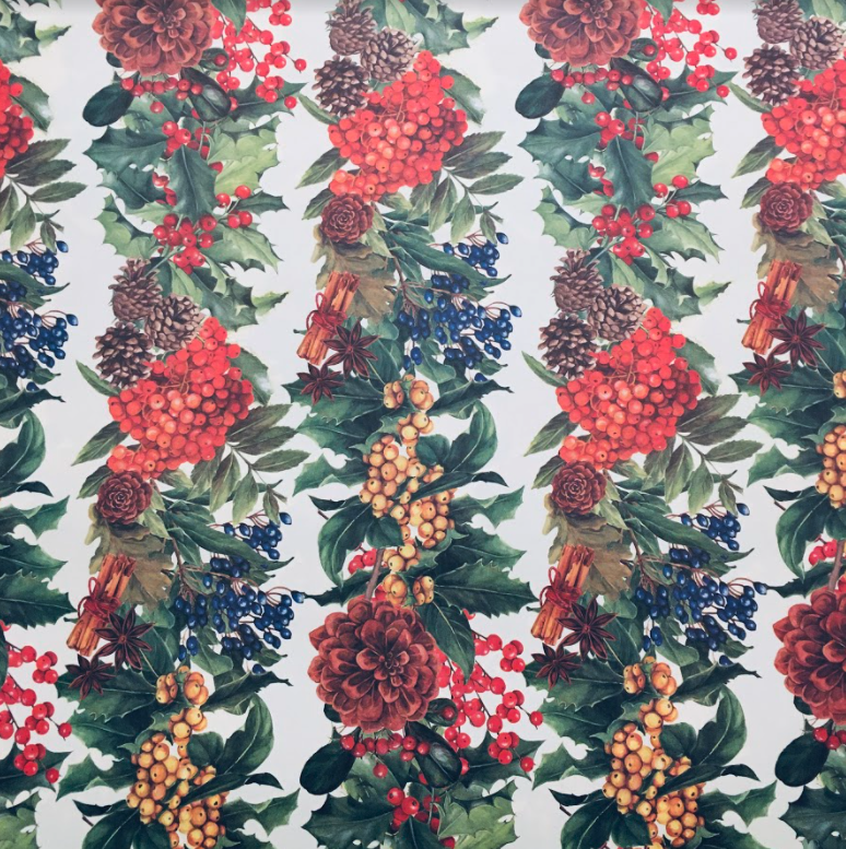 Christmas Berries Wrap Paper Sheet (pick up only)