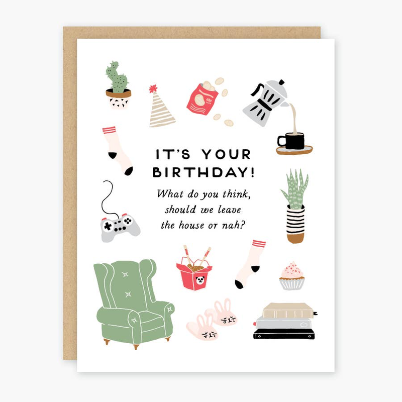Homebody Birthday Card