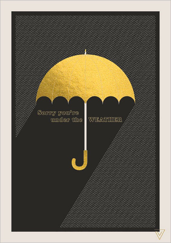 Umbrella - Get Well Card