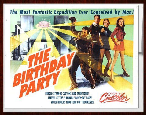 Alternate Histories Birthday Party Card