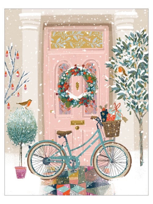 Festive Front Door Holiday Card